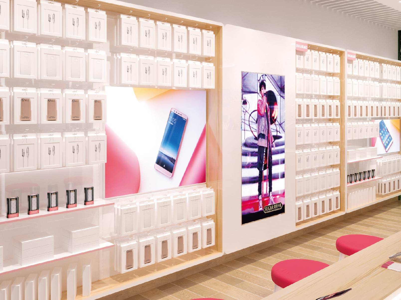 SUGAR Mobile Phone Experience Store | Retail Store Design