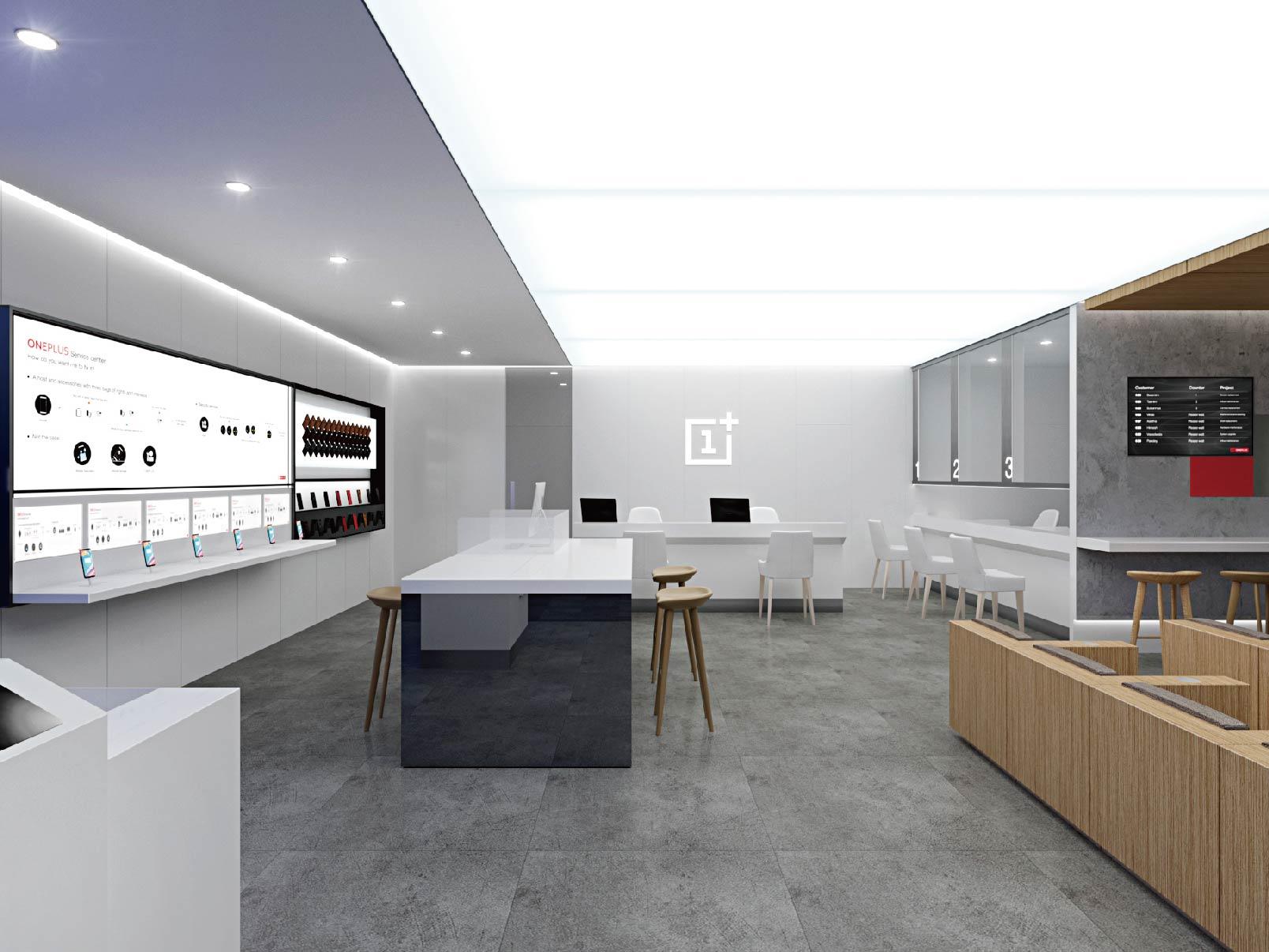 Store Design for OnePlus Customer Service Centre