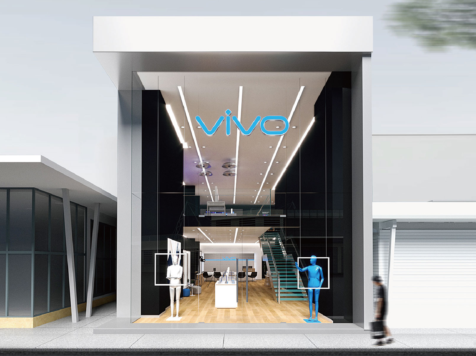 Store Design for vivo India Flagship Store in Bangalore